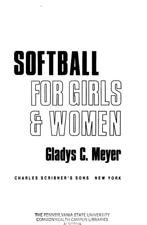Softball For Girls   Women PDF