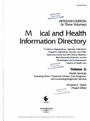 Medical And Health Information Directory Book PDF