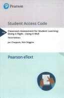 Classroom Assessment for Student Learning Access Code Book