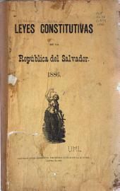 Leyes constitutivas de la república del Salvador, 1886