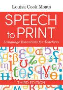Speech to Print Book