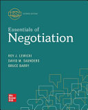 Loose Leaf For Essentials Of Negotiation Book PDF
