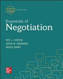 Loose Leaf for Essentials of Negotiation PDF