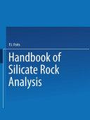A Handbook of Silicate Rock Analysis