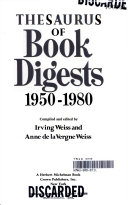 Thesaurus of Book Digests, 1950-1980