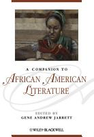 A Companion to African American Literature PDF