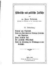 Ueber den Unterschied der Startegie Friedrichs und Napoleons