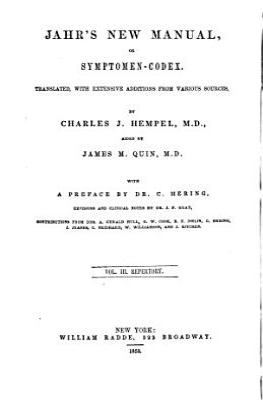 Jahr s new manual   or Symptomen codex