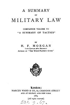 A Summary of Military Law