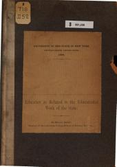 Libraries as Related to the Educational Work of the State