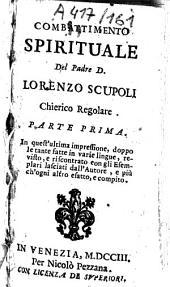 Combattimento spirituale. - Parigi, Stamperia reale 1660: Volume 1