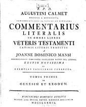 Commentarius Literalis In Omnes Libros Veteris Testamenti: In Genesim Et Exodum, Volume 1