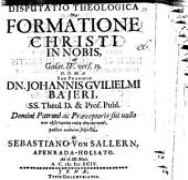 Disputatio theologica de formatione Christi in nobis: ad Galat. IV. vers. 19