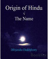 Origin of Hindu     The Name PDF