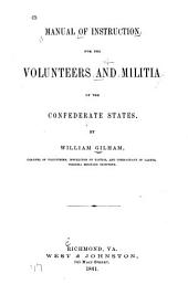 Manual for Instruction for the Volunteers and Militia of the Confederate States