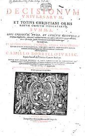 Decisionum Universarum ... summa