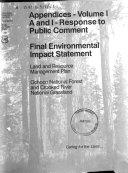 Appendices, Final Environmental Impact Statement