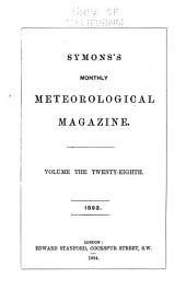 The Meteorological Magazine: Volume 28