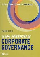 Global Dimensions of Corporate Governance PDF