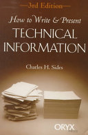 How to Write & Present Technical Information