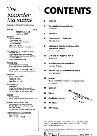 The Recorder Magazine PDF