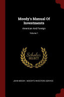 Moody s Manual of Investments PDF