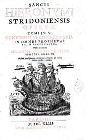 Sancti Hieronymi Stridoniensis Opera omnia, quae extant...