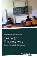 Learn Edo the Easy Way PDF