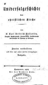 Universalgeschichte der christlichen kirche