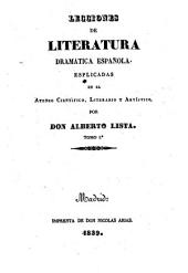 Lecciones de Literatura dramatica espanola (etc.)