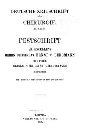 Deutsche Zeitschrift fur Chirurgie: Bände 85-86