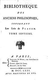 Bibliothèque des anciens philosophes: Volume7