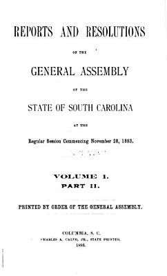 Report of State Officers  Board and Committees to the General Assembly of the State of South Carolina PDF