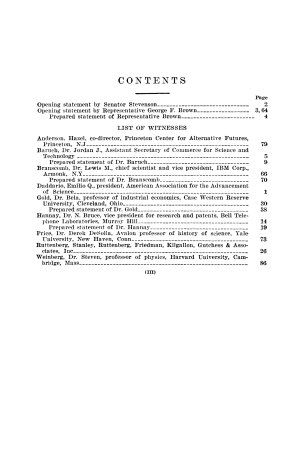 Oversight of science and technology policy