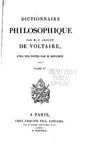 Dictionnaire philosophique: Volume1