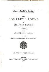 The Complete Poems of Sir John Davies: Volume 2