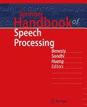 Springer Handbook of Speech Processing PDF