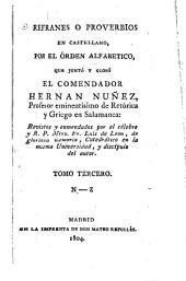 Refranes o proverbios en castellano ...