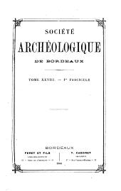 Bulletin et mémoires: Volumes28à30