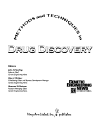 Methods and Techniques in Drug Discovery PDF