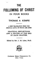 The Following of Christ in Four Books PDF