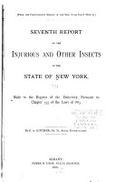 Report of the State Entomologist on Injurious and Other Insects of the State of New York PDF