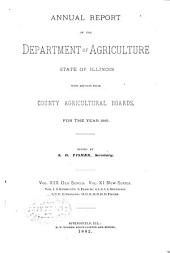 Transactions of the Department of Agriculture of the State of Illinois with Reports from County Agricultural Societies for the Year: Volume 19