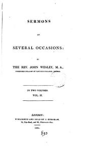 Sermons on several occasions [ed. by T. Jackson].