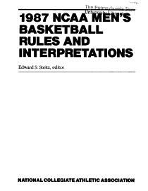 NCAA Men s Basketball Rules and Interpretations PDF