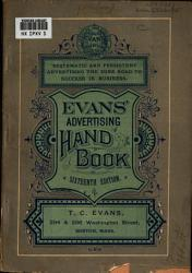 Evans  Advertising Hand book     PDF