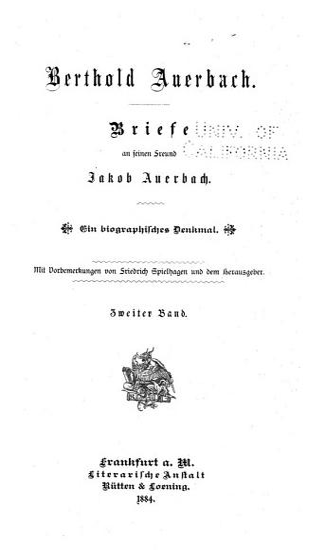 Berthold Auerbach PDF