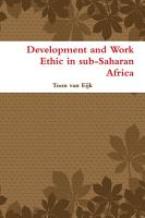 Development and Work Ethic In Sub Saharan Africa PDF