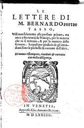 Le Lettere di M. Bernardo Tasso... di nuovo ristampate, rivedute e corrette