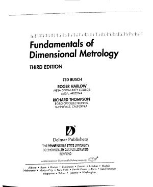 Fundamentals of Dimensional Metrology PDF